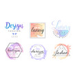 fashion boutique logo design templates collection vector image