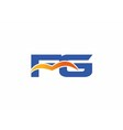 FG initial company logo vector image vector image
