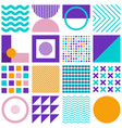 geometric simple shapes minimal seamless pattern vector image
