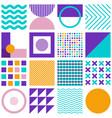 geometric simple shapes minimal seamless pattern vector image vector image