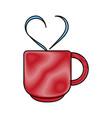 gift heart flat scribble vector image vector image