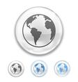 Globe Button vector image vector image