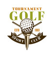 golf tournament emblem label badge logo vector image vector image
