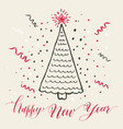 hand drawn christmas card vector image