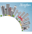 hangzhou skyline with gray buildings blue sky and vector image vector image