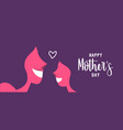 happy mother day web banner for daughter love vector image