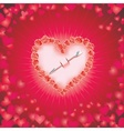 HEART OF LOVE Diamond heart background with space