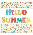 Hello summer card with decorative design elements vector image vector image