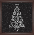 holiday seamless pattern with hand lettering we vector image