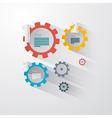 Infographics - Cogs Wheels vector image vector image
