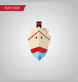 isolated shipping flat icon delivery vector image vector image