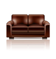 leather sofa vector image vector image