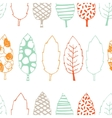 Leaves hand drawn seamless pattern vector image vector image