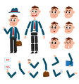 man character creation set with different gestures vector image vector image