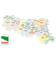 map italian region emilia romagna with flag vector image vector image