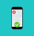 medical online prescription digital form vector image vector image