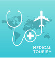 medical tourism flat design modern vector image vector image