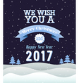 Merry Christmas vintage greeting card vector image vector image