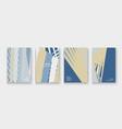 modern cover collection design abstract retro vector image