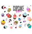 multi colored bakery stickers food pin vector image