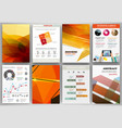 orange backgrounds and abstract concept icons vector image vector image