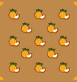 orange pattern on brown background vector image
