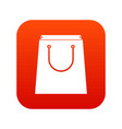 paper shopping bag icon digital red vector image vector image
