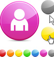 Person glossy button vector image vector image