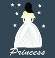princess in dress vector image vector image