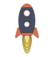 rocket taking off symbol vector image vector image