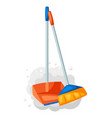 scoop with broom and dust vector image