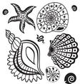 sea paradise set5 vector image vector image