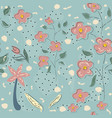 seamless floral pattern hand drawn vector image vector image