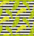 seamless striped pattern with palm tree vector image