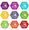 service data security icons set 9 vector image