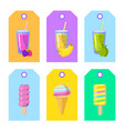 set of cards banners tags package labels with vector image vector image