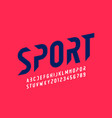 sport style modern font vector image