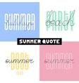 summer hand drawn brush font letterings summer vector image vector image