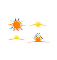 sun shine logo template vector image