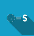 time is money sign icon isolated money is time vector image vector image