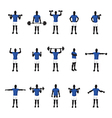 training group blue vector image vector image
