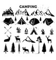travel event camping logo template for vector image vector image