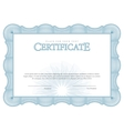 Vintage Certificate Template diplomas currency vector image