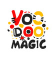 voodoo african and american magic logo vector image vector image