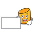 with board rigatoni character cartoon style vector image vector image