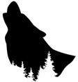 wolf howling vector image vector image