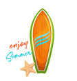Wood surfboard for summer surfing