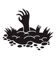 zombie ground hand icon simple style vector image