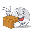 with box cd character cartoon style vector image