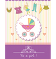 Baby Girl Shower Invitation Card vector image